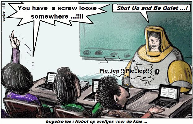 Cartoon  Engelse les robot