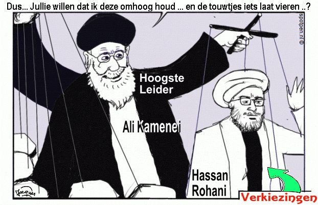 Iran - cartoon - verkiezingen