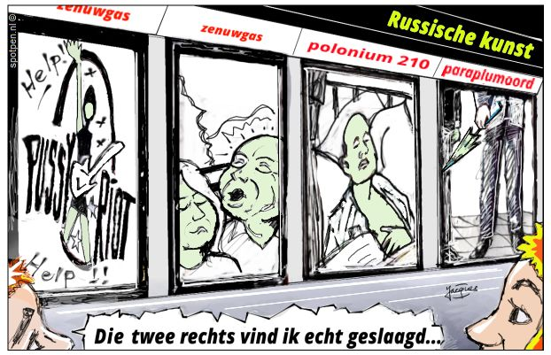 Russen Engeland vergif cartoon