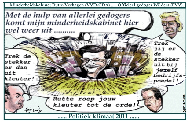 Cartoon Rutte VVD