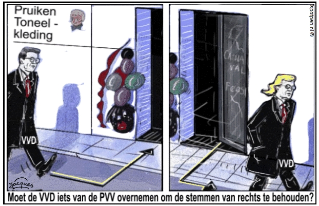 VVD cartoon Rutte Wilders