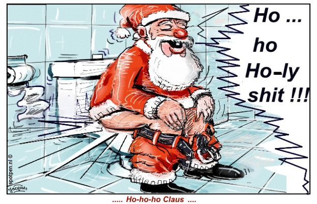 cartoon Santa Claus Kerstman Kerstmis