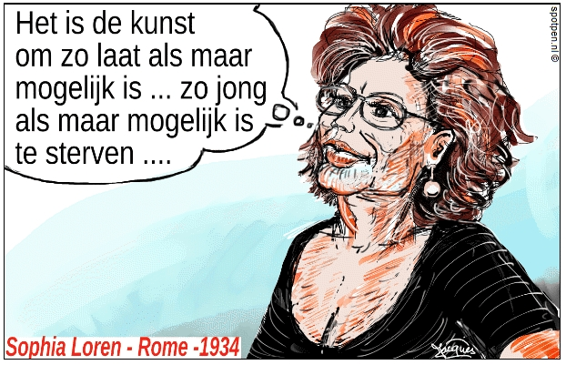 Sophia Loren film ster cartoon