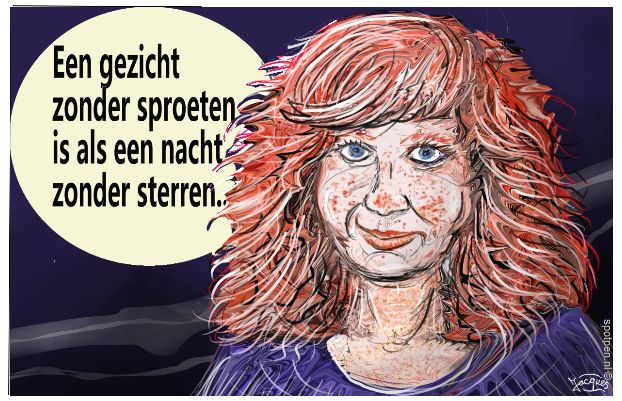 cartoon sproeten rode haren rood haar
