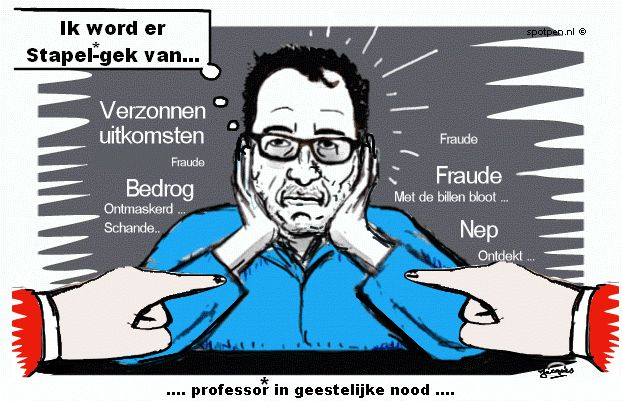 cartoon  Stapel professor