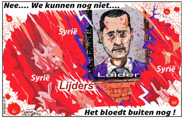 Bashar al-Assad president Syrië  cartoon
