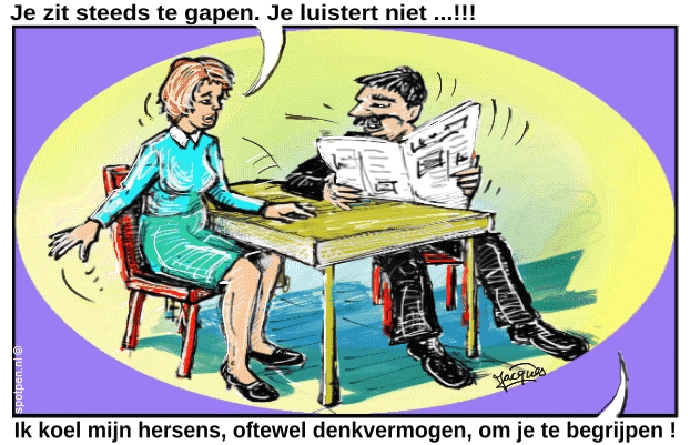 Gapen geeuwen cartoon