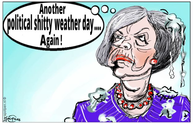 karikatuur Theresa May
