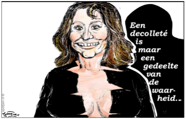 cartoon Decolleté Trijntje Oosterhuis