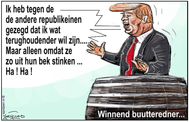 cartoon Trump  buutteredner tonprater