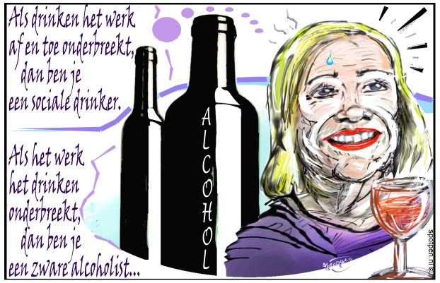 alcohol  alcoholisme alcoholverslaving  cartoon