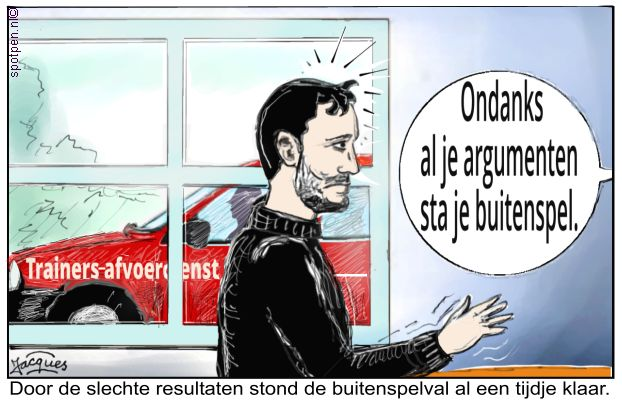 van Bommel cartoon voetbal trainer