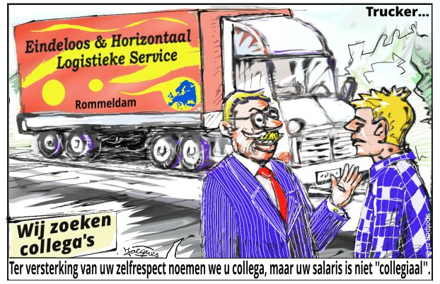 truck vrachtauto cartoon
