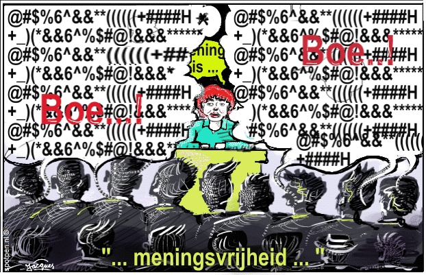 vrije mening cartoon meningsuiting