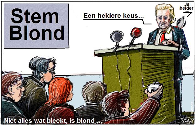 Wilders PVV cartoon